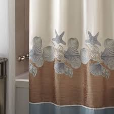 Croscill Shower Curtain Seashell Shower Curtain Bathroom Set Shower Curtain Set Seashells