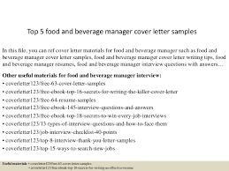 F B Manager Resume Sample by Top5foodandbeveragemanagercoverlettersamples 150619084129 Lva1 App6891 Thumbnail 4 Jpg Cb U003d1434703345