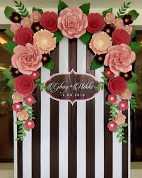 flower backdrop beautiful paper flower backdrop wedding ideas 11 oosile