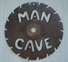 Wall Decor For Man Cave Man Cave Saw Blade Sign Wall Hanging Upcycled Saw Blade Wall