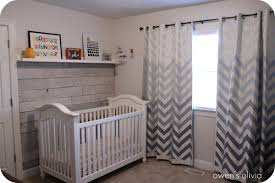 Gray And White Chevron Curtains by Owen U0027s Olivia Pallet Wall Reveal