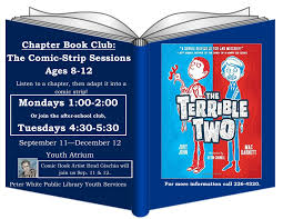 chapter book club the comic strip presented by peter white public