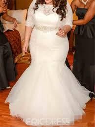 plus size wedding dresses ericdresss beautiful lace mermaid plus size wedding dress 11653764
