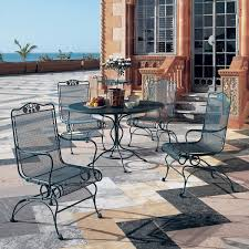Wrought Iron Patio Tables Vintage Wrought Iron Patio Furniture Home Decorating Ideas Woodard