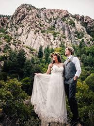 mountain wedding intimate utah mountain wedding ashton wedding dress