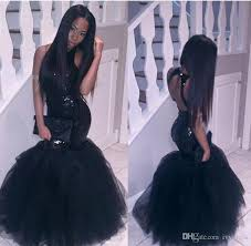 plus size little black mermaid african prom dresses long 2017