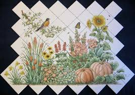 Ceramic Tile Mural Backsplash by Espinosa U0027s Flower Garden
