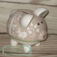 Baptism Piggy Bank Alphadorable Custom Hand Painted Piggy Bank To Coordinate With