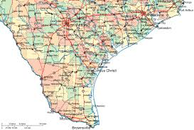 tecas map regional map of southern