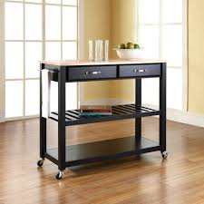 kitchen room 2017 modern luxury black wood top kitchen cart