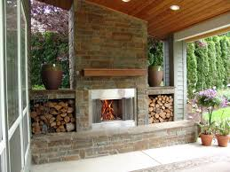 outdoor fireplace bull mountain traditional patio portland