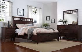 four piece contemporary storage bedroom set in brown mathis