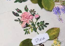 silk ribbon roses roses hearty craft