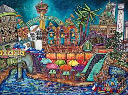 the alamo painting united way san antonio campaign poster original by patti schermerhorn