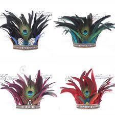 tribal peacock feather headband hair