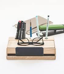 Photo Desk Organizer by Handmade Modern Solid Wood Desk Organizer With Smartphone Stand