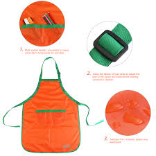 children kids waterproof art craft apron smock for diy painting