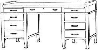White Art Desk Clipart Desk Black And White Clip Art Library