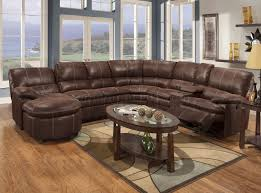 Rustic Leather Living Room Furniture Rustic Brown Microfiber Modern Reclining Sectional