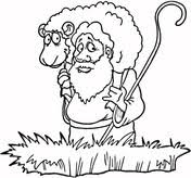 lost sheep coloring free printable coloring pages