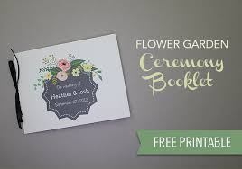 wedding programs printable printable flower garden wedding program the budget savvy
