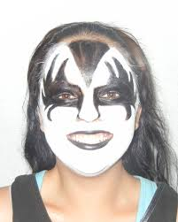 halloween city indio kiss rock star natural face paint design yessiree it u0027s time