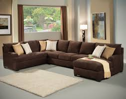 Black Microfiber Sectional Sofa Attractive Chocolate Brown Sectional Sofa With Chaise 34 In Black