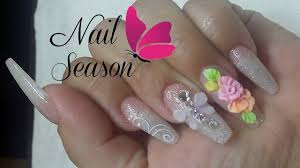 acrylic nails 3d flower easy nail art tutorial for beginners 2016