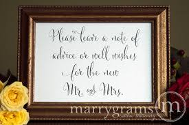 wedding wishes and advice leave a note of advice well wishes table sign wedding