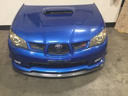 exterior usa vs jdm different front grille subaru impreza jdm subaru wrx sti ver9 06 07 front end blue