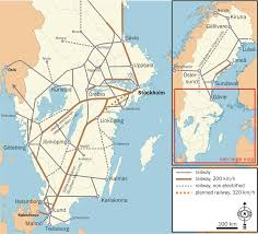 Spain Train Map by Rail Transport In Sweden Wikipedia