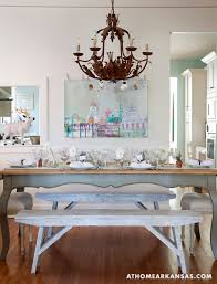 Shabby Chic White Dining Table by Folk Art And Shabby Chic Cottage In Arkansas Decorated For