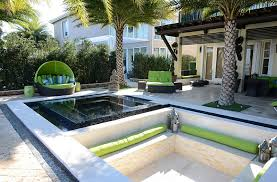 elevate the style quotient of your outdoor lounge with sunken