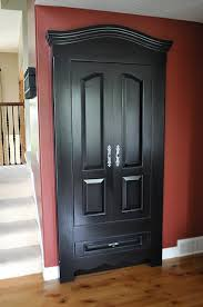 make an ugly closet door look like a piece of furniture this