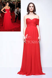 one shoulder sweetheart camilla belle red chiffon a line prom