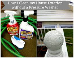 clean your house exterior without a pressure washer mom in music