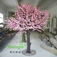 lanscaping best price artificial grp painted trunks pink flower