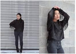 black fringe sweater thuy pham h m sweater zara f f ankle boots zara top