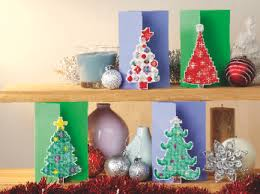 make a christmas card make a 3d christmas card cross stitching