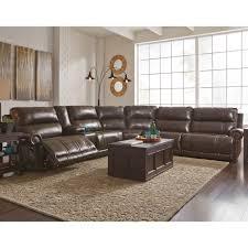 Ashley Furniture Microfiber Sectional Ashley Dak 6 Pc Power Reclining Sectional Ashley Furniture