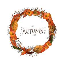 autumn wreath autumn wreath with leaves and flowers free vector