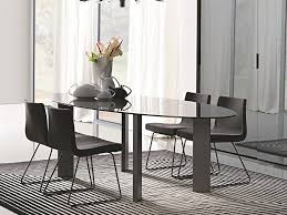 Oval Glass Dining Room Table 40 Glass Dining Room Tables To Revamp With From Rectangle To Square