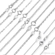 necklace chains styles images 7 fashion styles 925 sterling silver necklaces 18inch diy jewelry jpg