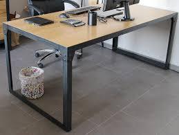 bureau loft industriel bureau table loft design industriel 180 cm en chêne naturel table