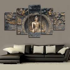 Buddha Home Decor Statues 5 Piece Buddha Statue Canvas Buddha Canvas Art Pinterest