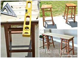 Stool For Desk Diy Barstool Desk Hometalk