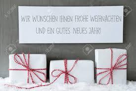 label with german text frohe weihnachten und ein gutes neues stock