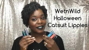 wet n wild halloween wet n wild halloween 2017 liquid catsuit lip swatches