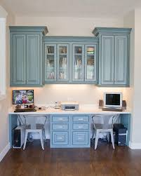 Kitchen Cabinets For Home Office Two Work Areas Home Office Pinterest Hanging Cabinet Desk