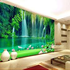 3d Wallpaper For Bedroom Shinehome Modern Waterfall Natural Wallpaper Roll 3d Wallpapers